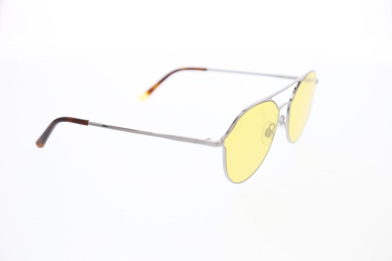 Men's sunglasses w 0208 14j metal silver organic drop pilot 59-16-145 web