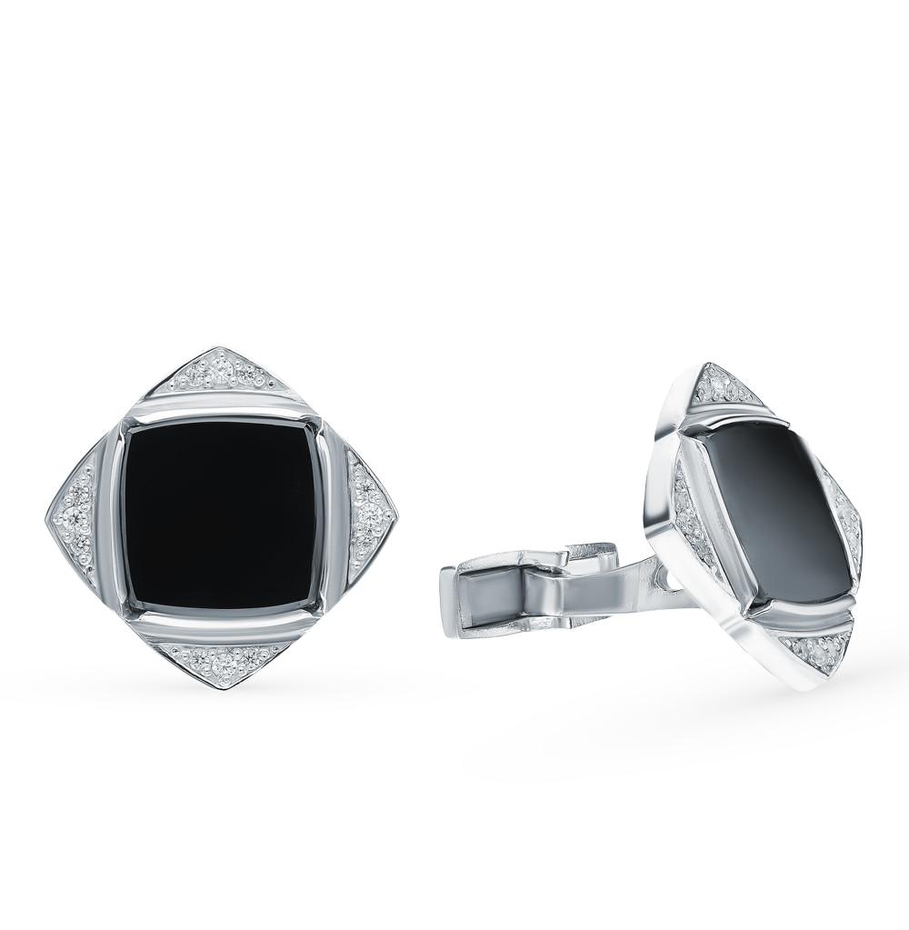 Silver Cufflinks With Cubic Zirconia Sunlight Sample 925