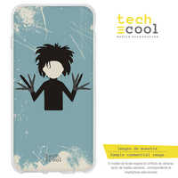 FunnyTech®Stand case for Sony Xperia XZ Silicone L Manos Scissors Characters designs selection art illustration 2