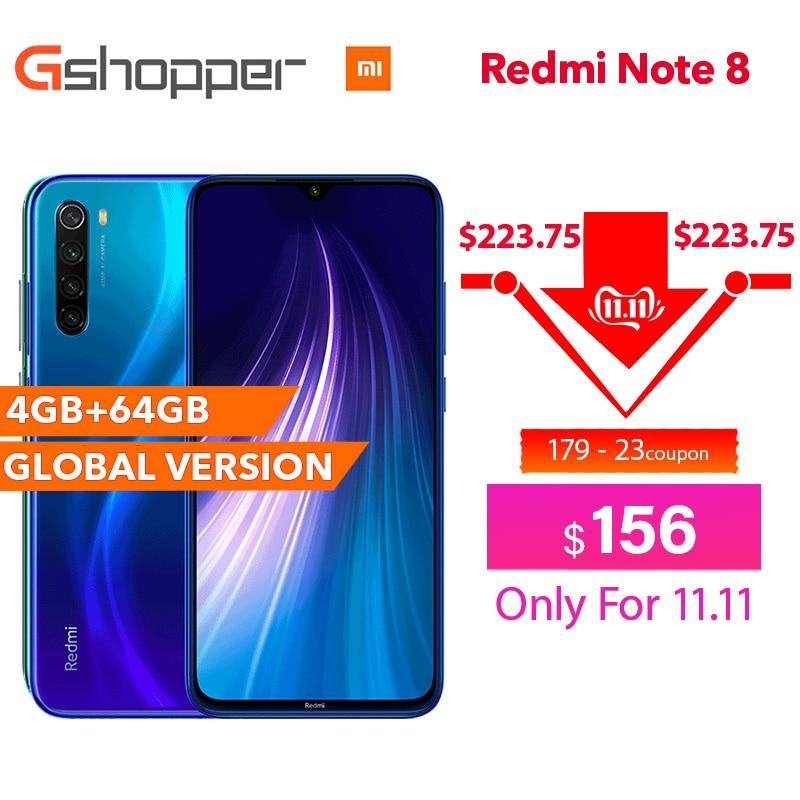 Global Version Xiaomi Redmi Note 8 4GB RAM 64GB ROM Octa Core Smartphone Snapdragon 665 48MP 6.3