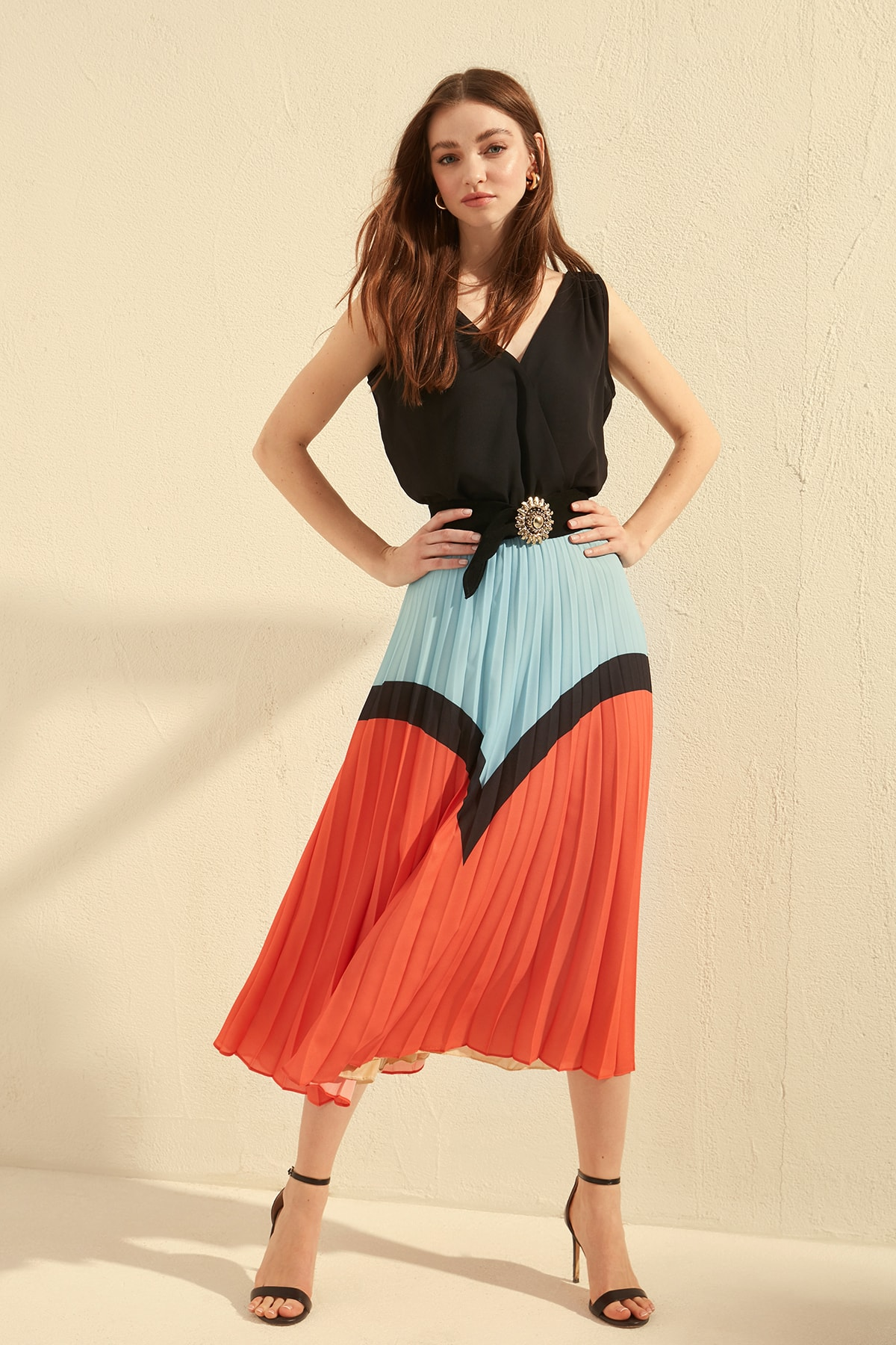 Trendyol Piliseli Skirt TWOSS20ET0030