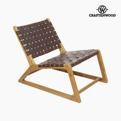 Fotel Mindi wood (60x80x70 cm) firmy Craftenwood w Krzesła do salonu od Meble na