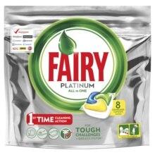 Капсулы для посудомоечной машины Fairy Platinum All in One Лимон 8 шт./уп
