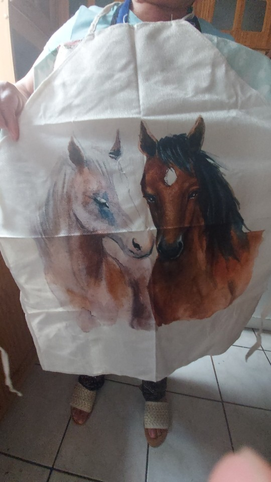 Horse Patterned Design Kitchen Apron photo review