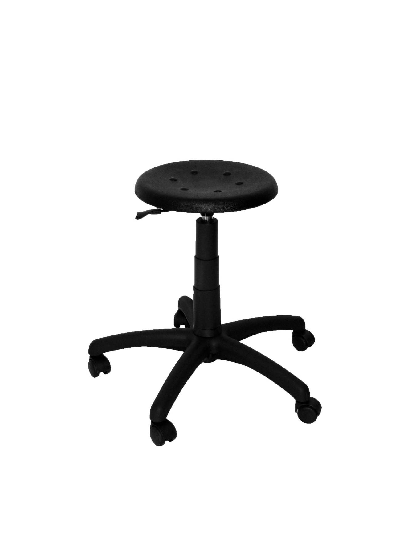 Stool Working, Swivel And Dimmable In High Altitude Using Cylinder Gas-up Seat From Polyurethane Black Color PIQUE