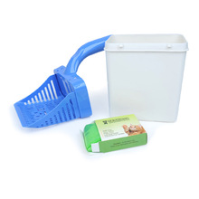 1 Set Cat Litter Shovel Scoop Pets Cleaning Tools Food with 15pcs Disposable Bags Waste