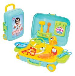 Grandpa Kids Doctor Suitcase Set, Suitable for Children 3 Years and Over, 15 Pieces, Colorful and Educational