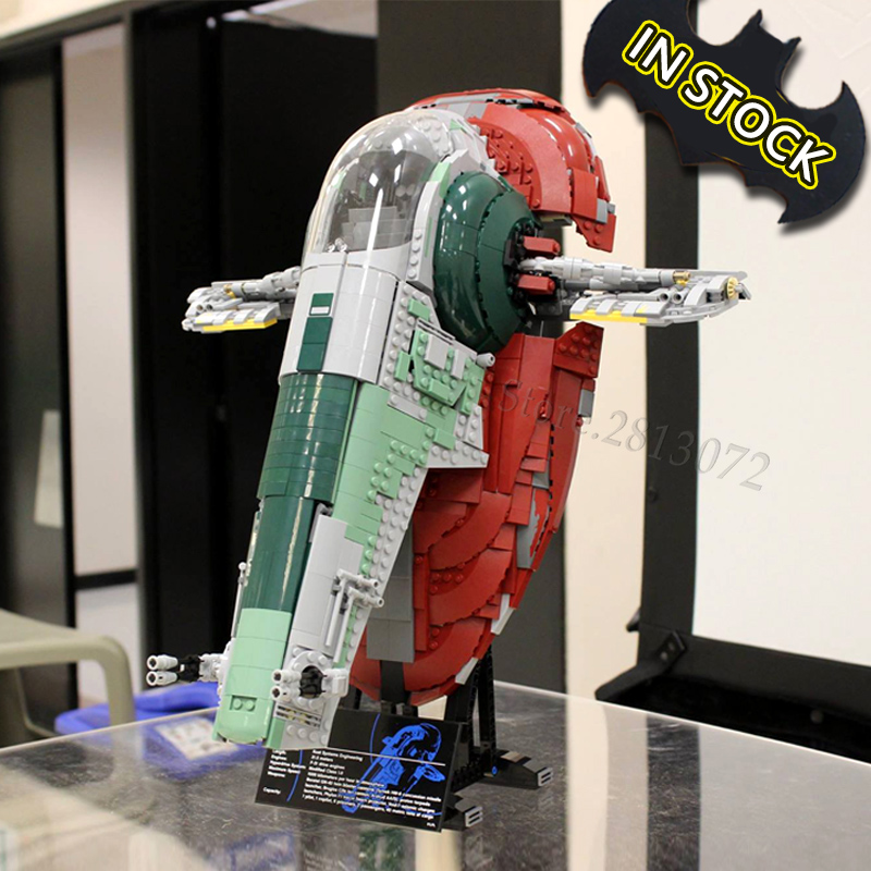 Slave I 75060 IN STOCK 2067PCS Model Building Blocks Star Bricks Wars 81039 05037 UCS Toys For Children