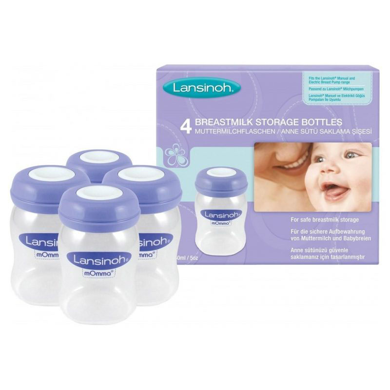 Lansinoh Human Milk Keeping Bottles-4x160 Ml