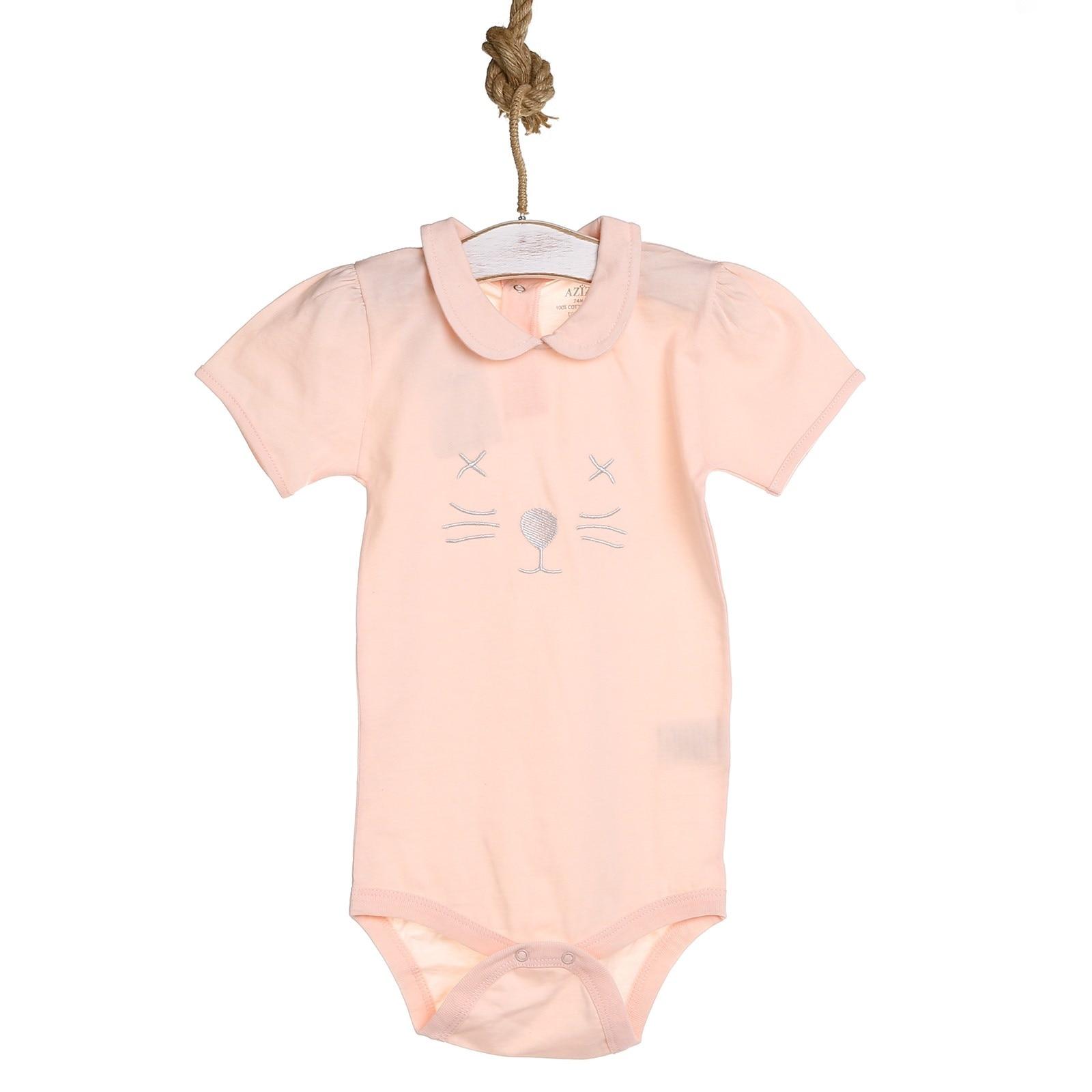 Ebebek Aziz Bebe Baby Girl Summer Short Sleeve Bodysuit