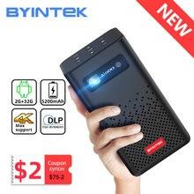 BYINTEK P20 Mini taşınabilir akıllı Android WIFI TV Video Pico LED DLP projektör Full HD 1080P mobil akıllı telefon PC 4K sinema