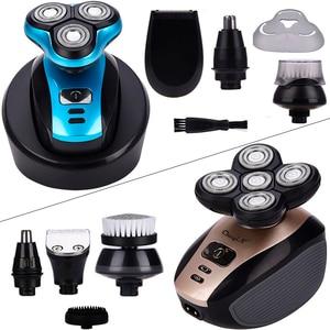 Image 1 - תכליתי חשמלי מכונת גילוח מקצועי זקן גילוח עמיד למים צף ראש גילוח מכונת קירח שיער קליפר טיפוח קיט