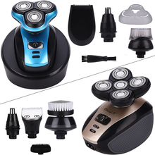 Multifunction Electric Shaver Professional Beard Razor Waterproof Floating Head Shaving Machine Bald Hair Clipper Grooming Kit