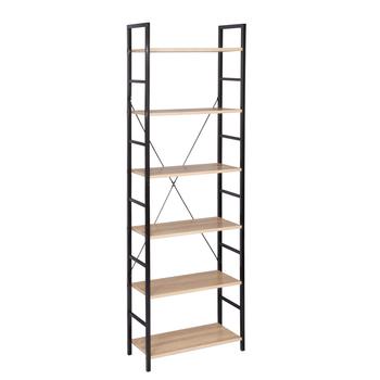 Drewniany czarno-biały regał regał magazynowy 6 poziomów półki regał garaż szopa regał magazynowy Organizer do kuchni wystrój tanie i dobre opinie CN (pochodzenie) Nowoczesna i minimalistyczna Szafka do pokoju dziennego meble do domu Nowoczesne 6 (włącznie)-9 (włącznie)