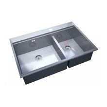 Мойка для кухни ZorG Sanitary ZM X-5278-L ARTE(2 чаши, габаритные размеры 780х520 мм, нержавеющая сталь