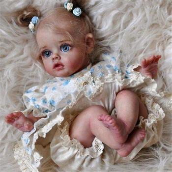 RSG Reborn laleczka bobas 12 cali realistyczne noworodka Flo Mini Elf Vinyl niepomalowane niedokończone lalki części DIY puste lalki zestaw tanie i dobre opinie CN (pochodzenie) Dıy Toy SOFT Miękkie i pluszowe FASHION DOLL Baby dolls Wypchane lalki 12 inches(30 cm) Produkt z gwiazdką
