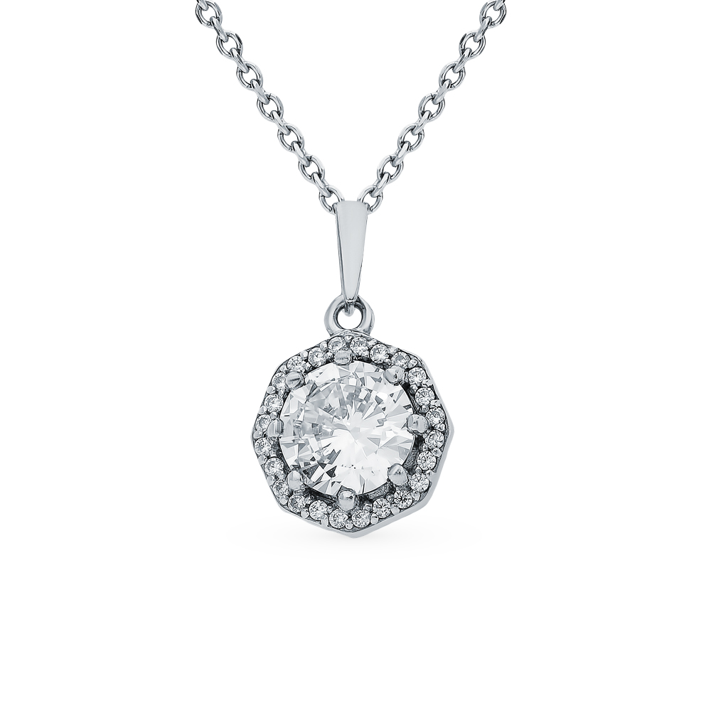 Silver Pendant With Cubic Zirconia Sunlight Sample 925