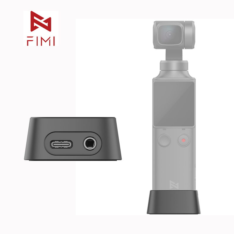 FIMI Palm Gimbal Camera Base Official Charging Base Adapter For FIMI Palm Gimbal Camera Original Accessory 3.5mm Micphone Hole