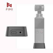 FIMI Palm kamera kardanowa baza oficjalna baza do ładowania Adapter do FIMI Palm kamera kardanowa oryginalne akcesoria 3 5mm micphone hole tanie tanio XIAOMI base of PALM gimbal camera 4*3*1 8cm approx Kardanowe base for FIMI PALM GIMBAL CAMERA USB-C port charge for Palm gimbal