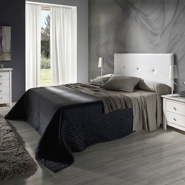 MarcKonfort Cabecero tapizado Judith de 160 X 55 X 3 cm, Incluye herrajes para Colgar, cabecero de polipiel, cabecero para cama.| | - AliExpress