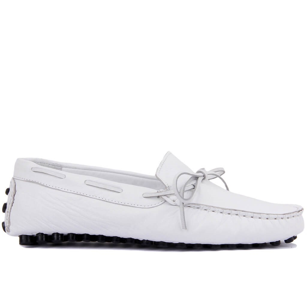 Sail-Lakers White Leather Men 'S Shoes