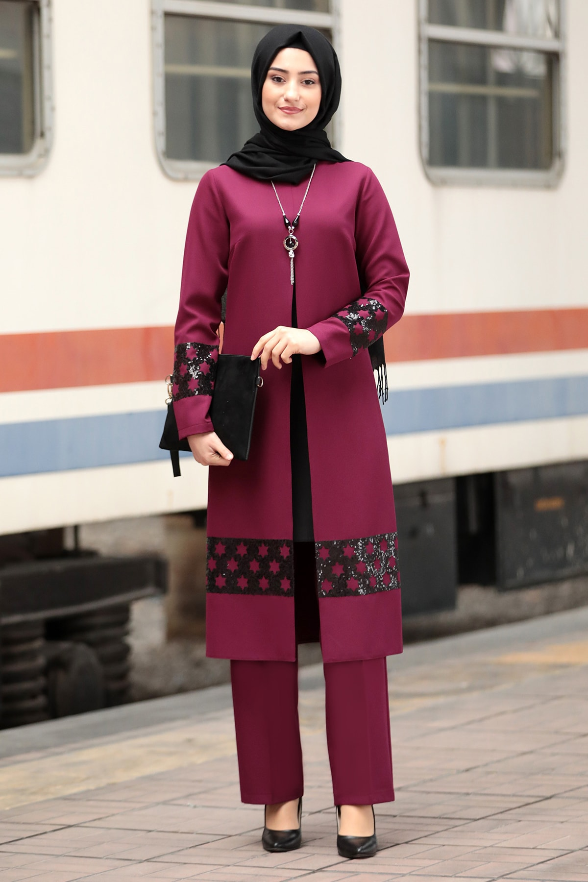Hijab Dress Kaftan Abaya Set for Women