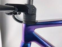 2021 mais recente ultraleve quadro de carbono molde sl7 azul camaleão revestimento caber di2 e mecânico grupo bicicleta carbono rosca bsa