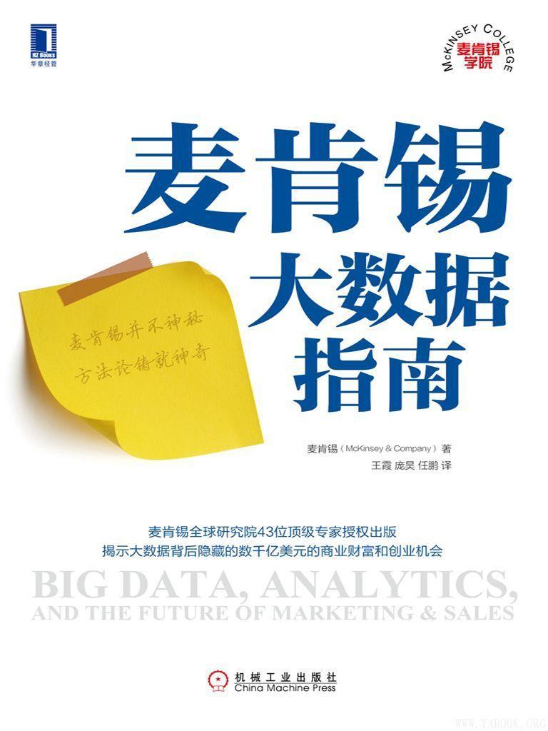《麦肯锡大数据指南 (麦肯锡学院)》封面图片