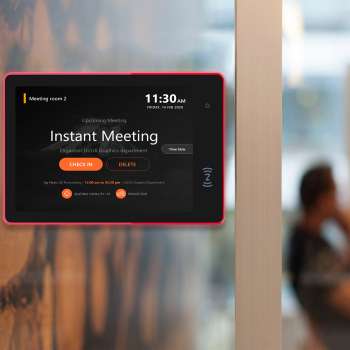 10.1 inch conference meeting room schedule display tablet pc wall mounted (PoE, NFC, Open Source Android 8.1, RK3288, 2GB+16GB)