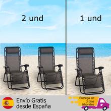 Pliant chaises longues De Jardin 1 et/2 et zéro gravité chaises d'extérieur, SILLON PELLO 1 unité, chaise longue, sillon