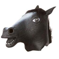 2019 새로운 파티 할로윈 새해 장식 말 머리 마스크 동물 의상 완구