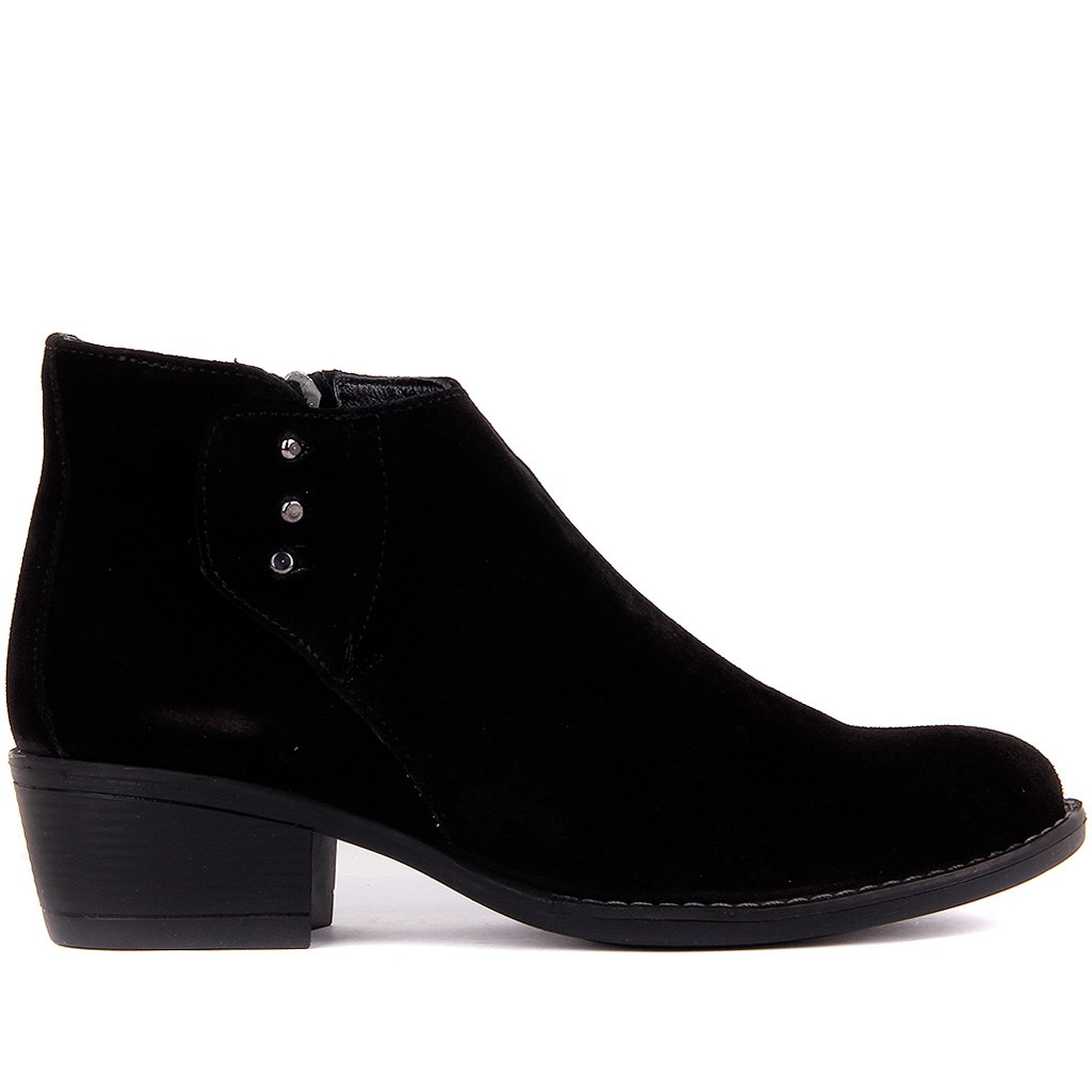 Sail-Lakers Black Suede Women 'S Half Boots