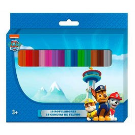 Blister 18 Colors Markers Paw Patrol