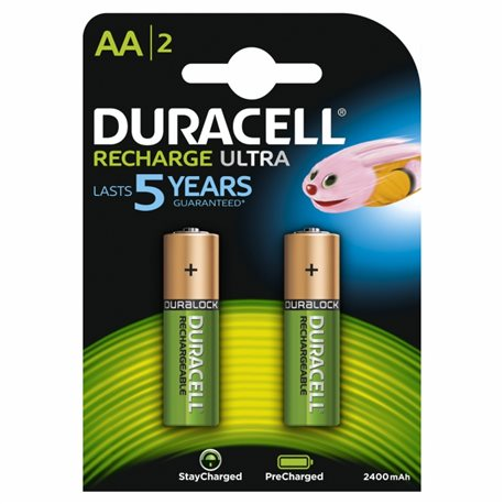 RECHARGEABLE battery LR06 AA 1,5V DURACELL 2 PZ image