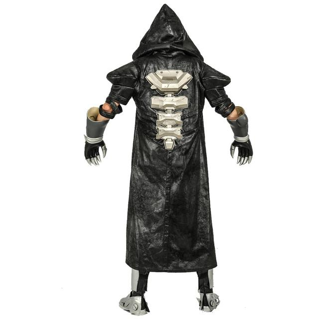 COSTHEME Overwatch Reaper Robe, Officially Licensed, Halloween Cosplay Costume Coat Gabriel Reyes Game Anime Apparel with Spine 3