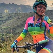 Kafitt 2019 Pro Team Triathlon Suit Womens Cycling Jersey Skinsuit Jumpsuit Maillot Ropa ciclismo 9D set gel long suit