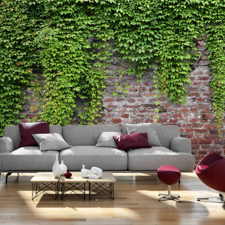 Photo Wallpaper-Bricks And Ivy