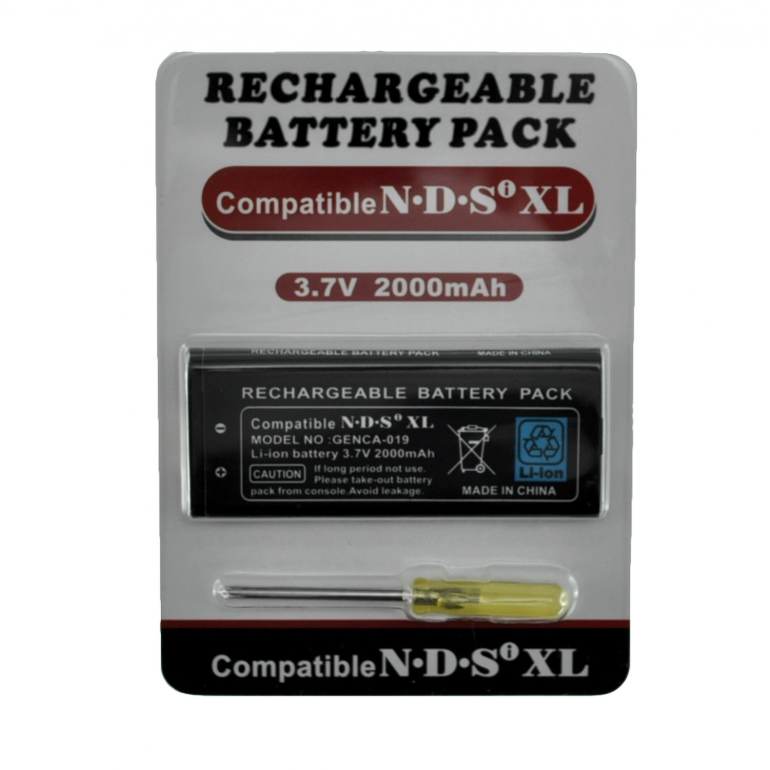 NDSi XL Rechargeable Li-ion Battery 3,7v 2000mah replacement 3 7v 2500mah rechargeable li ion battery us plug power adapter for sony m36h xperia zr