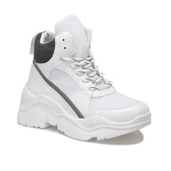 FLO 19K-959 białe damskie buty sportowe BUTIGO tanie i dobre opinie Trzciny