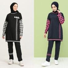 Garnish tracksuit Part 2 Bottom Top Muslim headscarf New Season turkey Dubai Women's Fashion Trends arabia 100% Made in Turkey