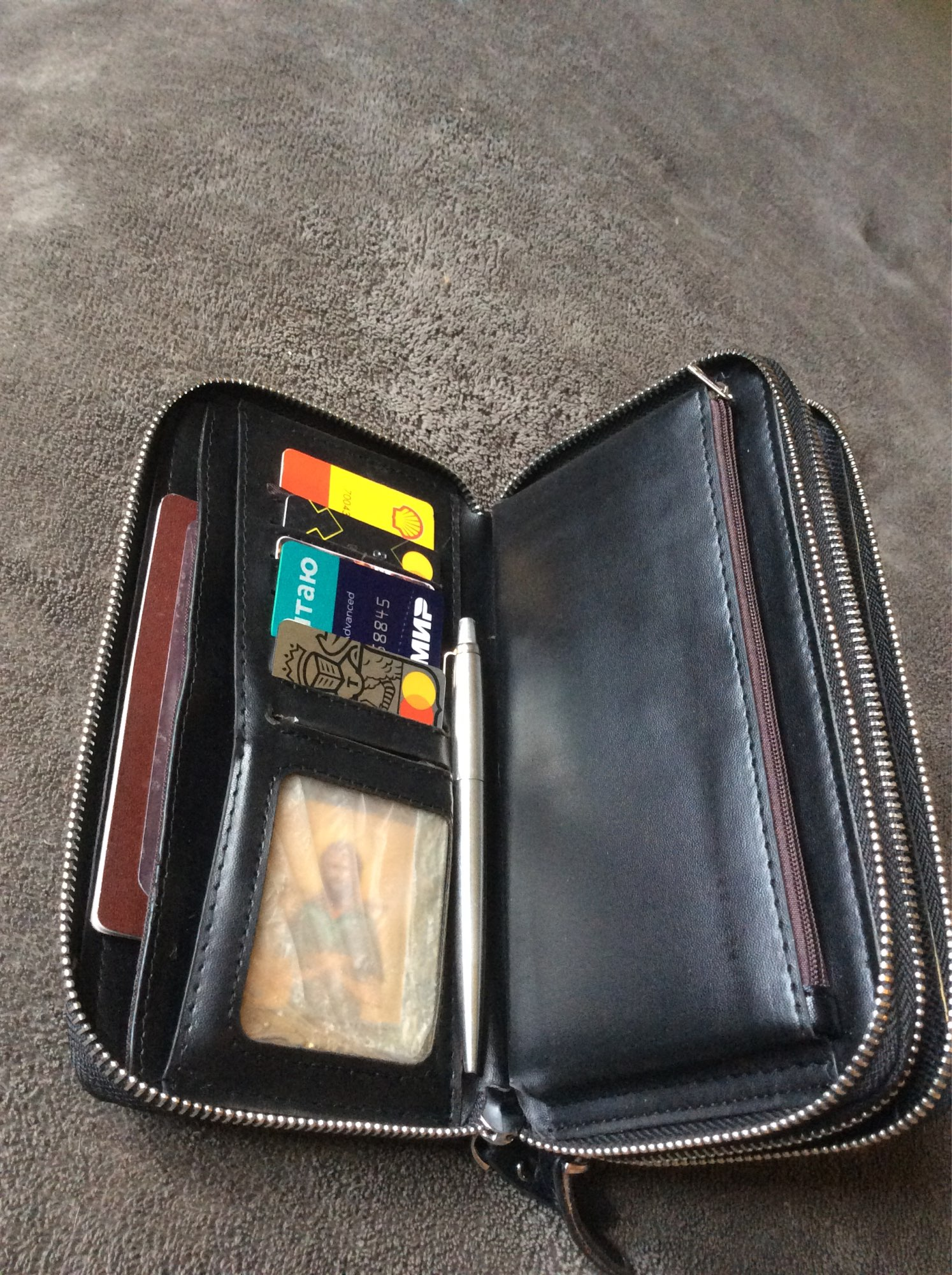 Men Wallets with Coin Pocket Long Zipper Coin Purse for Men Business Male Wallet Double Zipper Vintage Large Wallet Purse|wallet with|large walletwallet with coin pocket - AliExpress
