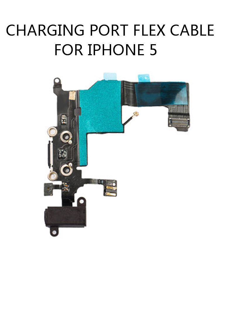 Original Quality For Iphone 5 Charging Port  Dock Connector With Mic Flex Cable For A1428 A1429 A1442