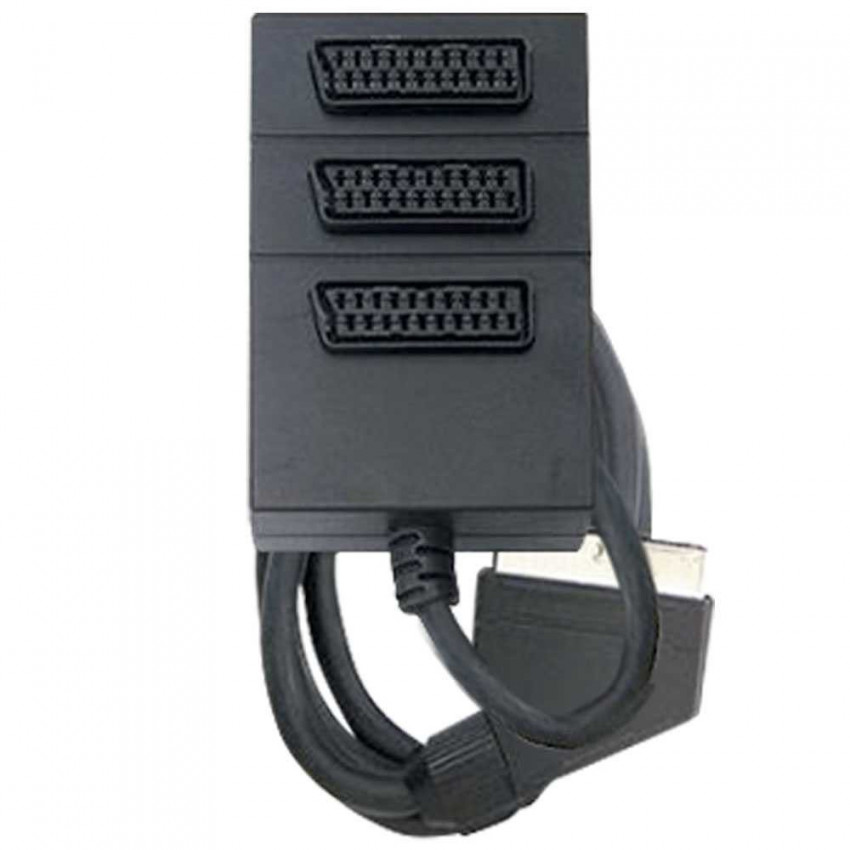 Adapter 3 Sockets SCART With 0,5m Cord 7hSevenOn Elec