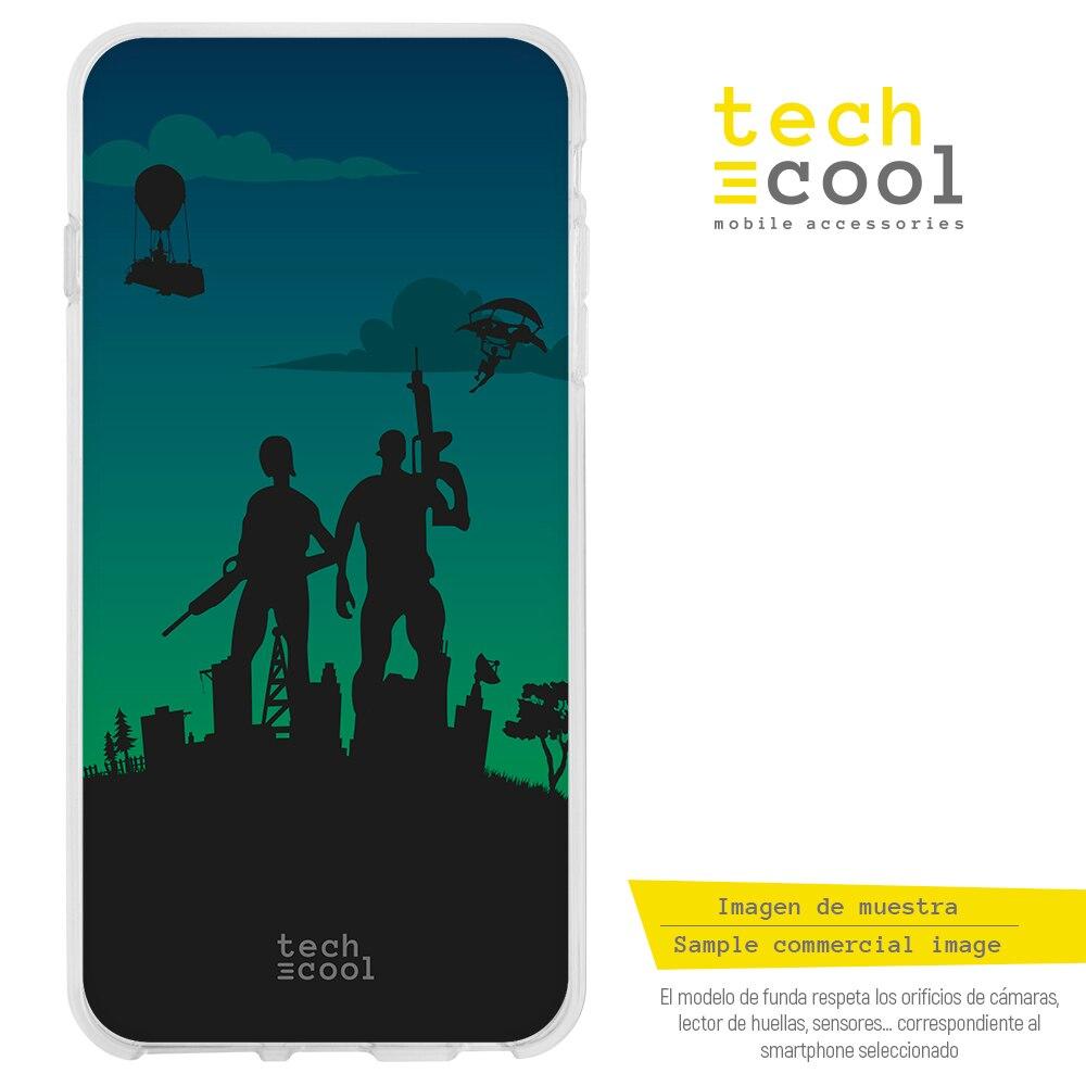 FunnyTech® Funda Silicona para Huawei P30 Lite l Juego Fortnite diseño personajes fondo verde