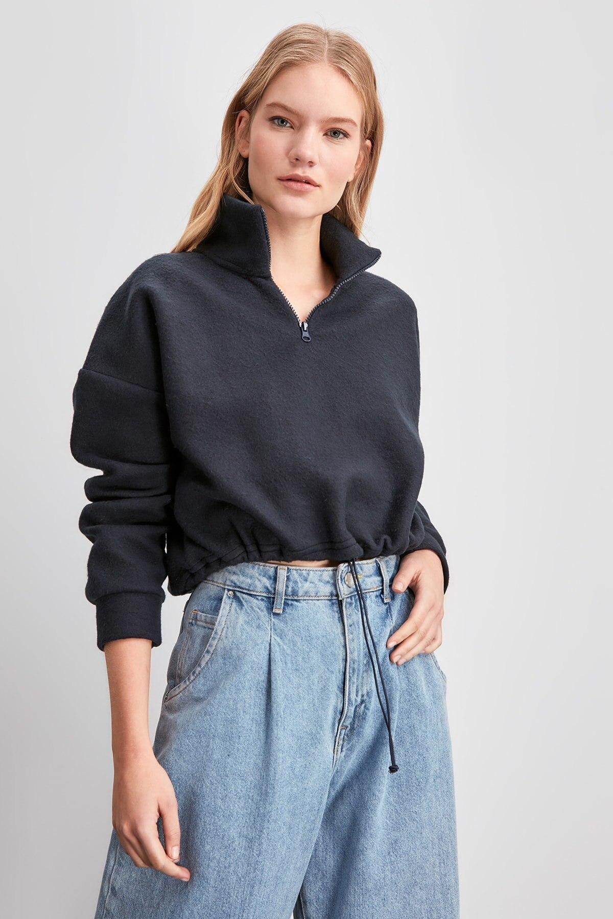 Trendyol Fleece Knitted Sweatshirt TWOAW20SW0331