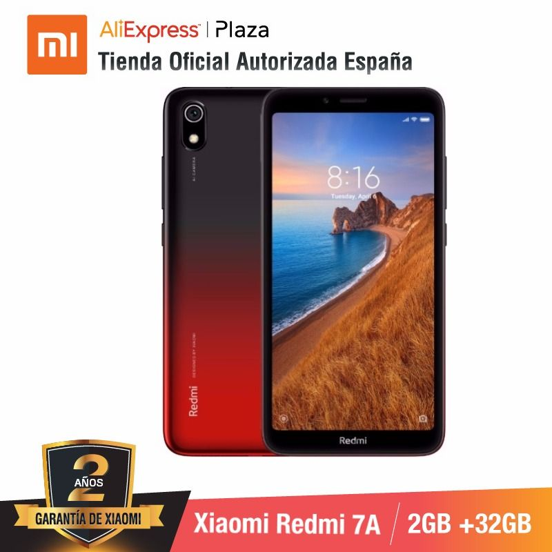 [Version globale pour l'espagne] Xiaomi Redmi 7A (memia interna de 32 GB, RAM de 2 GB, Camara de 13MP + 5 MP) Movil