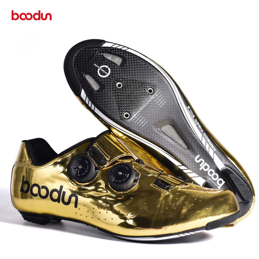 Boodun 2020 Local Gold New Mtb Road Bike Carbon Auto Lock Shoes Ultralight Professional Bicycle Racing Shoes