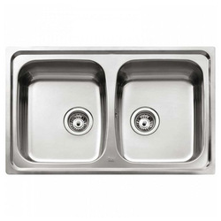Sink with Two Basins Teka Stainless steel
