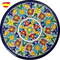 Керамическая плита высотой 21 см  диаметр 8 3 дюйма  Глазированная Керамика ручной работы  сделано в Испании  искусство  MIJASCERAMIC