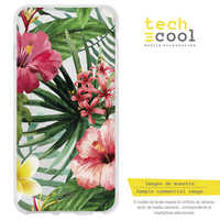 FunnyTech®Stand case Silicone for Nokia 7 L design design Floral vers.2